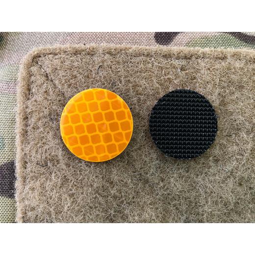 JTG GoFlex POINT Patch, orange glänzend, stark reflektierend, Lasercut mit Klettrückseite