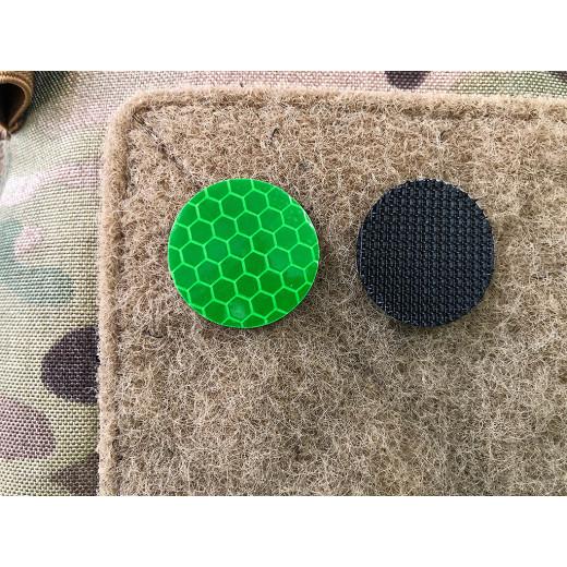 JTG GoFlex POINT Patch, grün matt, stark reflektierend, Lasercut mit Klettrückseite