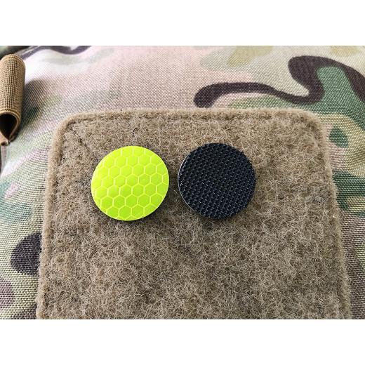 JTG GoFlex POINT Patch, gelb matt, stark reflektierend, Lasercut mit Klettrückseite