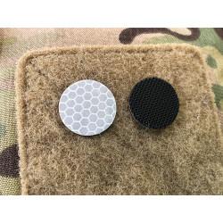 JTG GoFlex POINT Patch, weiss matt, stark reflektierend, Lasercut mit Klettrückseite