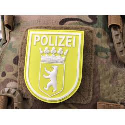 JTG Ärmelabzeichen Polizei Berlin Patch, signalgelb...