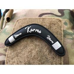 JTG Karma Returns Boomerang Patch, black / JTG 3D Rubber