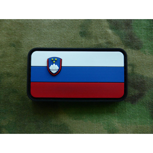 JTG - Slowenische Flagge Patch, fullcolor / 3D Rubber patch