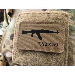 AKM 7,62x39 Lasercut Patch, Coyote, Cordura Lasercut