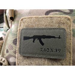 AKM 7,62x39 Lasercut Patch, ranger-green black, Cordura...