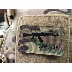 AKM 7,62x39 Lasercut Patch, multicam, Cordura Lasercut
