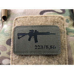 AR-15 223/5,56 Lasercut Patch, ranger-green black,...