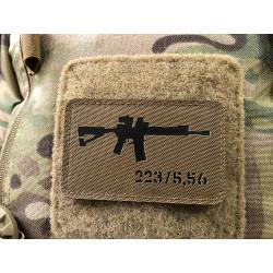 AR-15 223/5,56 Lasercut Patch, coyote black, Cordura...