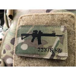 AR-15 223/5,56 Lasercut Patch, multicam, Cordura Lasercut