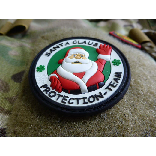 JTG  Santa Claus Protection Team Patch, fullcolor / JTG 3D Rubber Patch