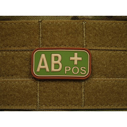 JTG - Blutgruppen Patch AB POS, multicam / 3D Rubber patch