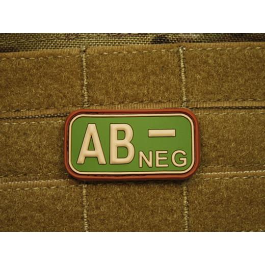 JTG - Blutgruppen Patch AB NEG, multicam / 3D Rubber patch