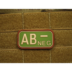JTG - Blutgruppen Patch AB NEG, multicam / 3D Rubber patch