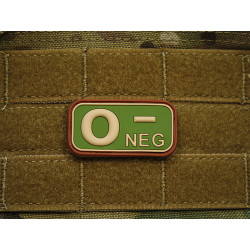 JTG - Blutgruppen Patch 0 NEG, multicam / 3D Rubber patch