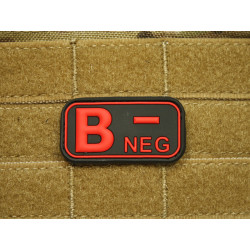 JTG - Blutgruppen Patch B NEG, blackmedic / 3D Rubber patch