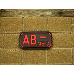JTG - Blutgruppen Patch AB NEG, blackmedic / 3D Rubber patch