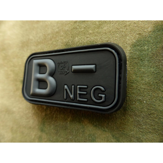 JTG - Blutgruppen Patch B NEG, blackops / 3D Rubber patch