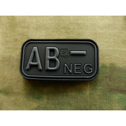 JTG - Bloodtype Patch AB NEG, blackops / 3D Rubber patch